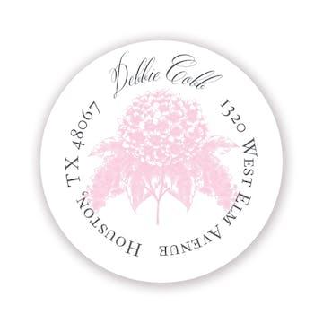 Pastel Hydrangea Return Address Sticker