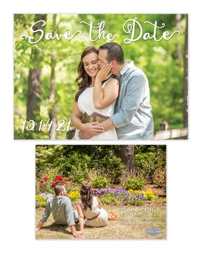Calligraphy Love Photo Save The Date Card