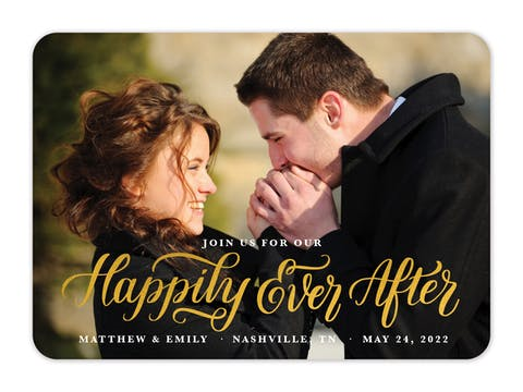 Happily Ever After Foil Pressed Photo Card
