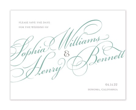 Proudly Announcing Save The Date Invitation