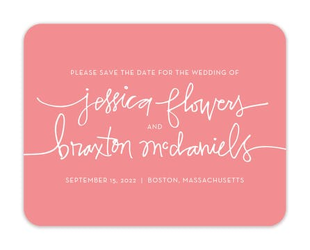 One Fine Day Save The Date Card