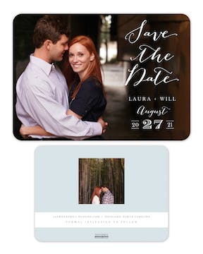 Lettered Love - Photo Solo Photo Save The Date