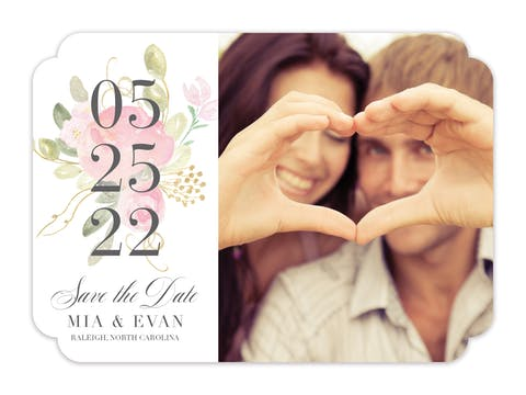 Blooming Bouquet Save The Date-Photo