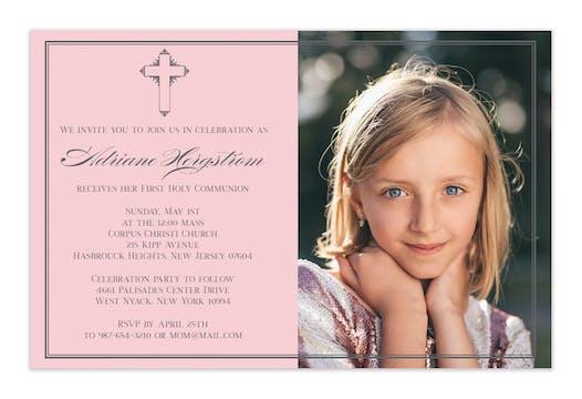 Petite Cross Photo Invitation