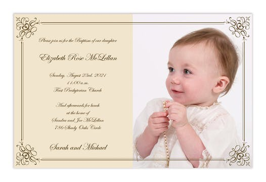 Elegant photo invitation