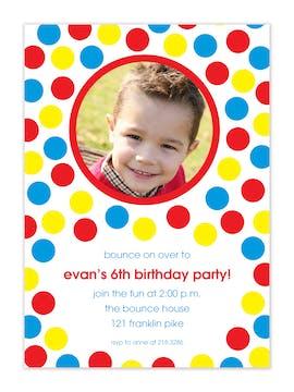 Bounce Party Photo Invitation