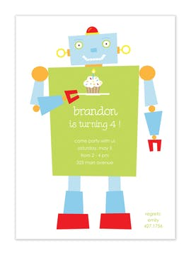Happy Robot Party Invitation