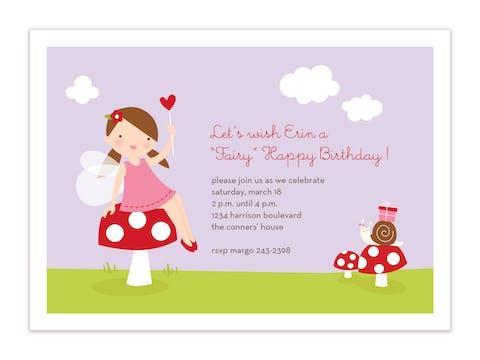 Fairy Happy Birthday Flat Card