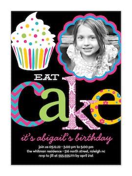 Let's Eat Cake Photo Invitation