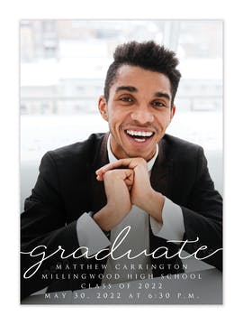 Casual Graduate Photo Card Announcement