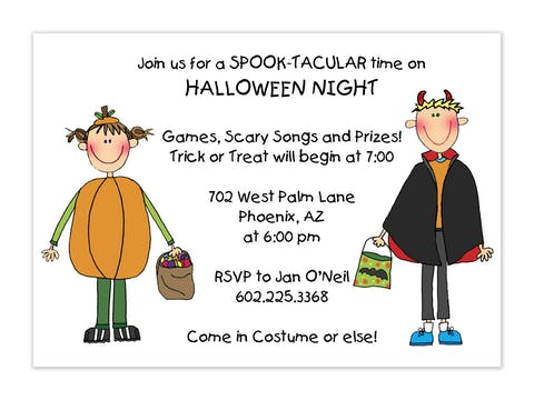 Personalized Character Halloween Invitation