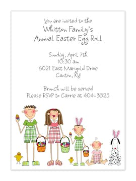 Personalized Character  Easter Invitation