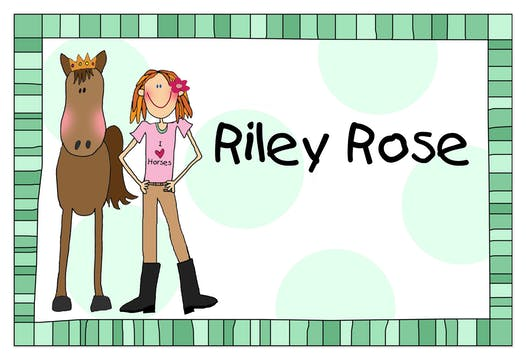 Personalized Character Design-Your-Own Green Placemat