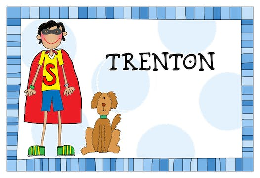 Personalized Character Design-Your-Own Blue Placemat
