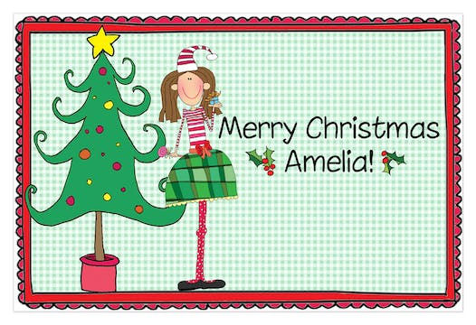 Personalized Character Christmas Placemat
