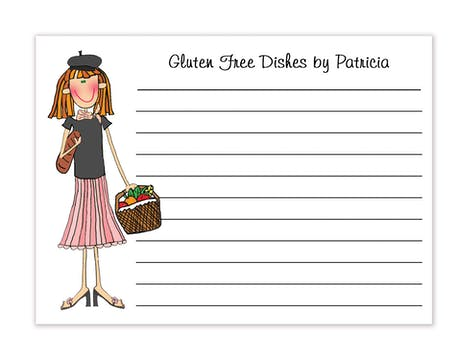 Personalized Character Paris Recipe Card