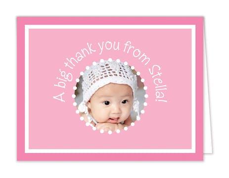 Little Me Bubblegum Digital Photo Folded Note
