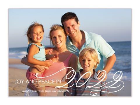 Big New Year Holiday Photo Card