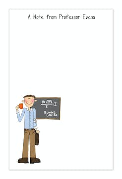 Personalized Character Teacher Notepad
