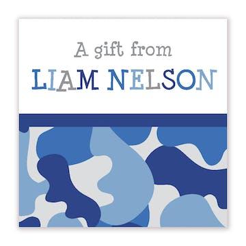 Blue Camo Enclosure Card