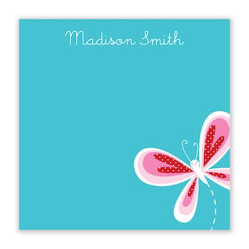 Butterfly Kisses Flat Calling Card