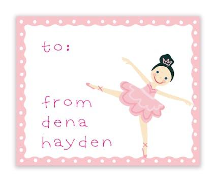 Dena Ballerina Calling Card
