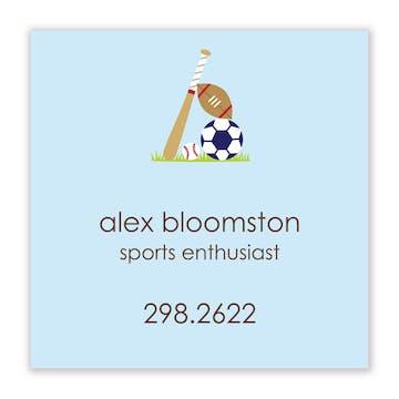 Little Sport Flat Calling Card