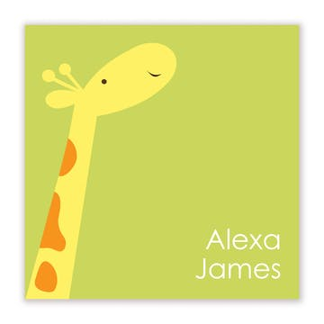 Party Giraffe Flat Calling Card