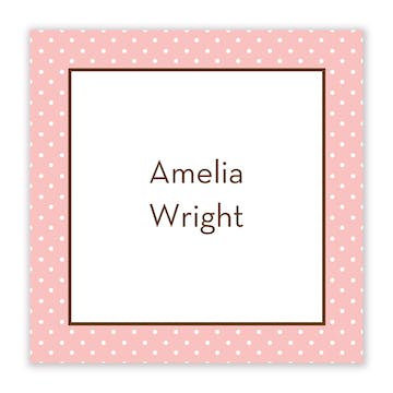 Amelias Party Flat Calling Card