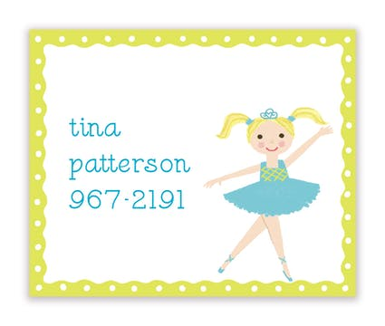 Tina Ballerina Calling Card