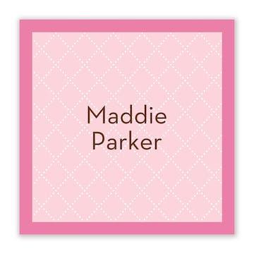 Waffle Cone Pink Flat Calling Card