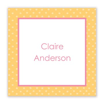 My Slumber Party Flat Calling Card
