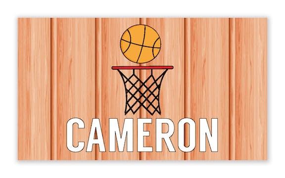 Basketball Enclosure Card