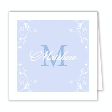 Lovely - Blue Folded Enclosure Card