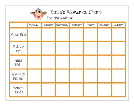 Personalized Character Chore Chart
