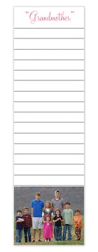 Lined Photo Notepad with text
