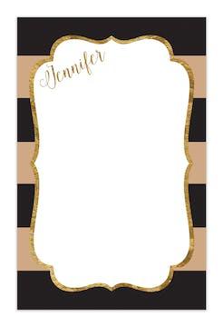 Black & Taupe Glitter Frame Notepad