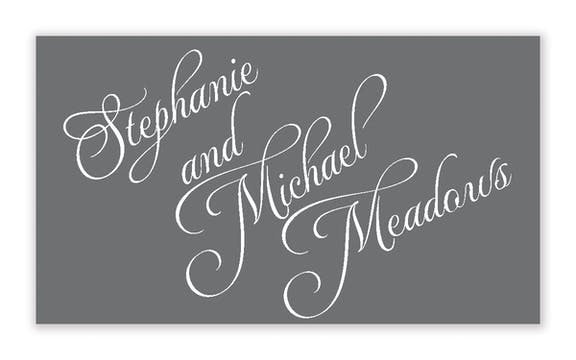 Grey and White Simple Enclosure Card