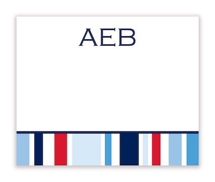 Nautical Stripe Calling Card