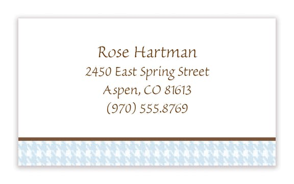 Small Pastel Houndstooth Calling Card