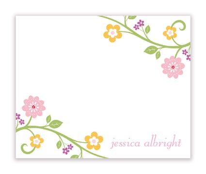 Blooming Vine Calling Card
