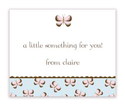 Bashful Butterflies Calling Card