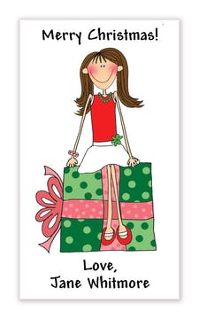 Personalized Character Holiday Vertical Gift Enclosure