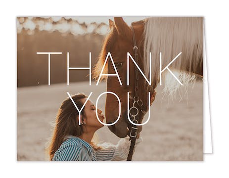 Thank You Photo Note Card