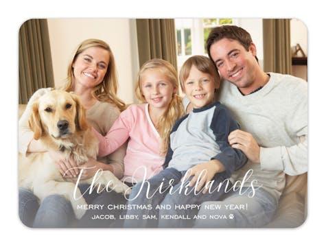 Big Name Holiday Photo Card