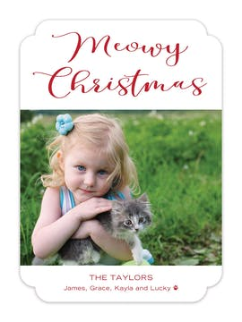 Meowy Christmas Holiday Photo Card