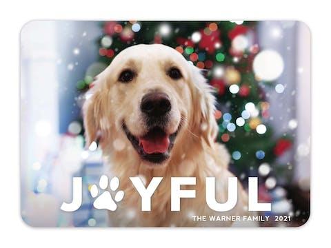 Joyful Paw Print Holiday Photo Card