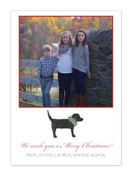 Labrador Love Holiday Flat Photo Card