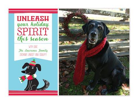 Unleash The Spirit - Blue Flat Photo Card