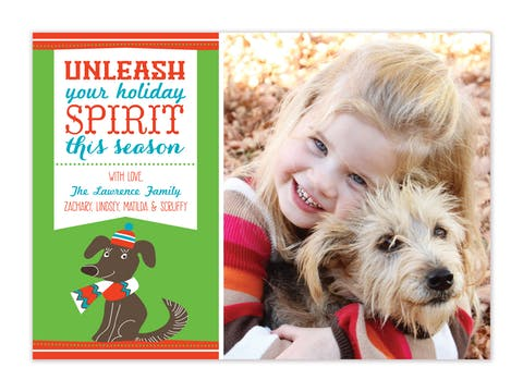 Unleash The Spirit - Green Flat Photo Card